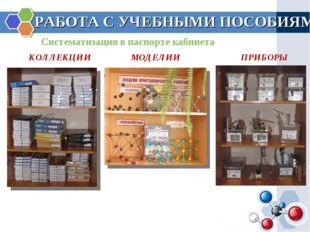 РАБОТА С УЧЕБНЫМИ ПОСОБИЯМИ Систематизация в паспорте кабинета КОЛЛЕКЦИИ МОДЕ