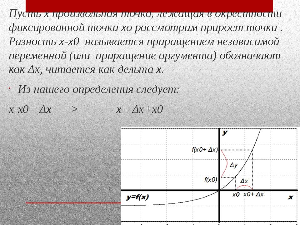 Пусть х произвольная точка, лежащая в окрестности фиксированной точки хо расс...