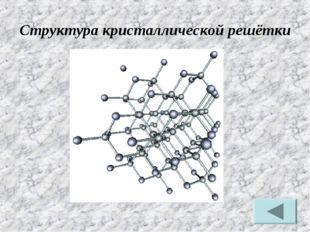 Структура кристаллической решётки