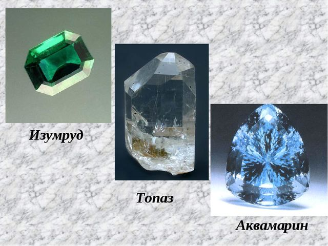 Изумруд Топаз Аквамарин