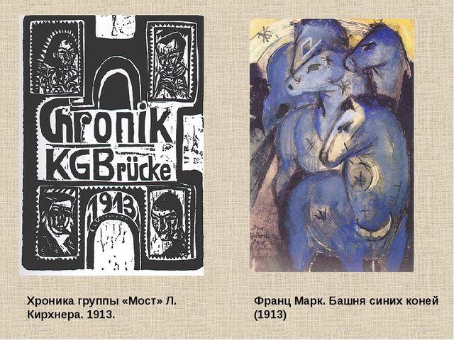 Хроника группы «Мост» Л. Кирхнера. 1913. Франц Марк. Башня синих коней (1913)
