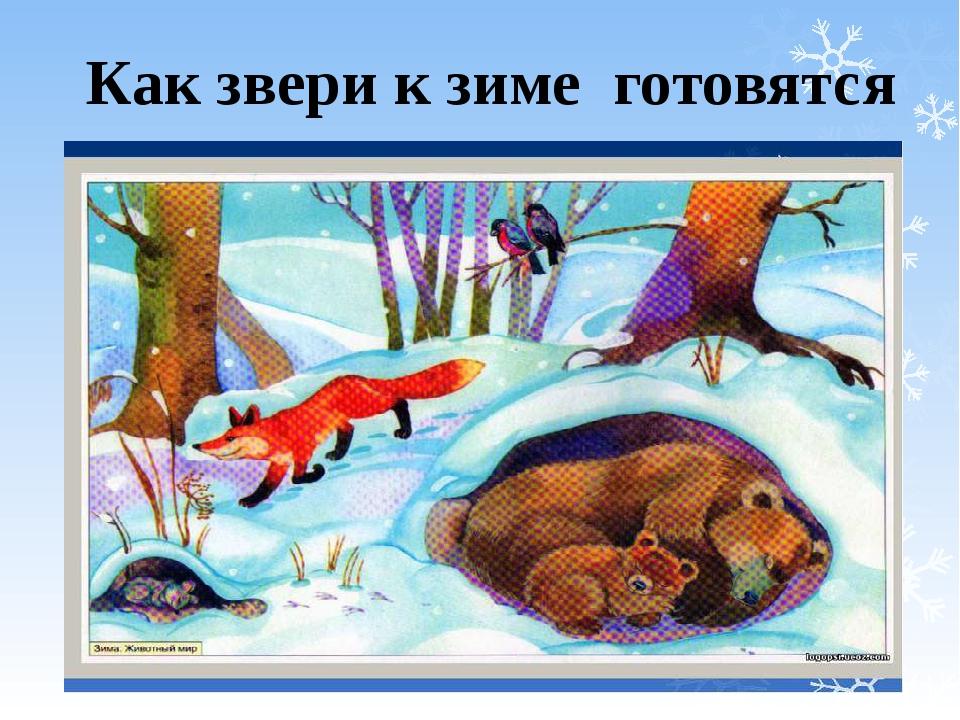 рисунок как звери к зиме готовятся современном