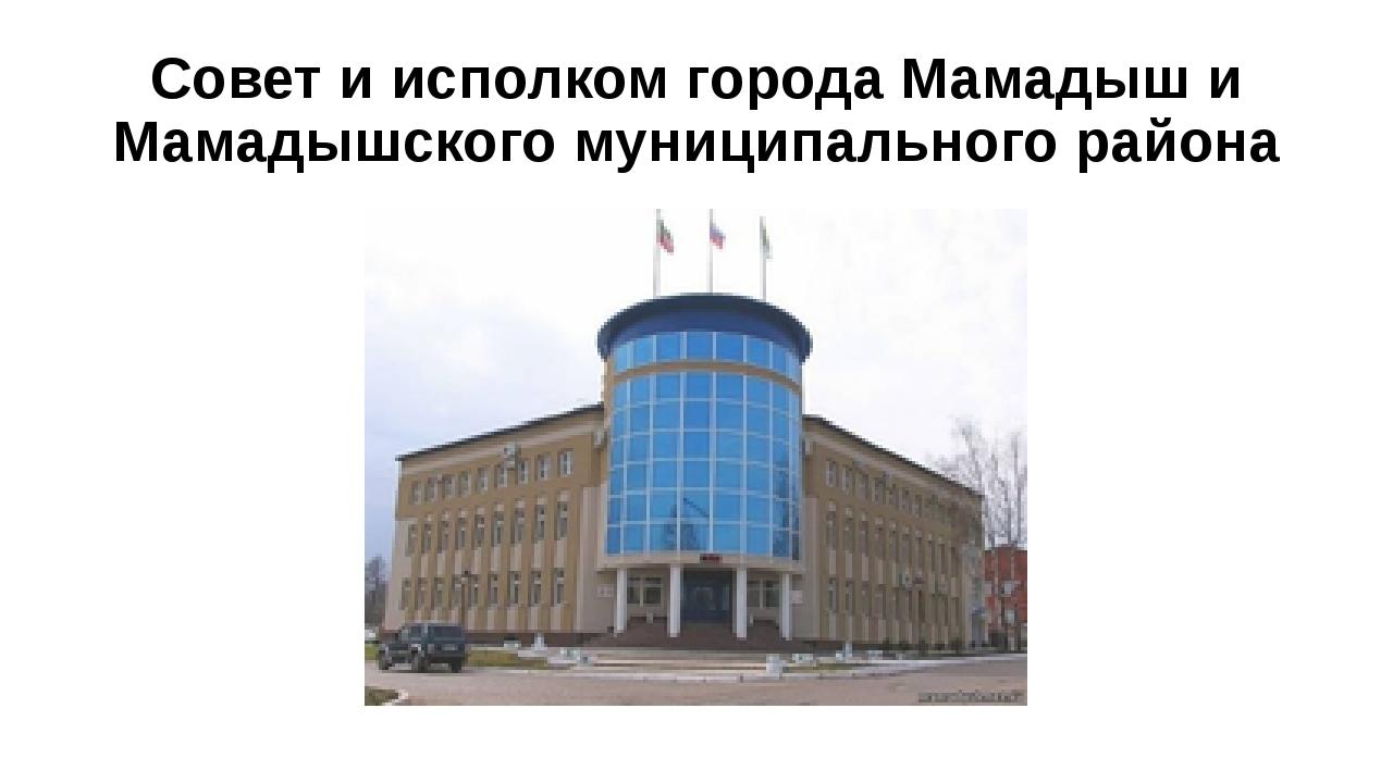 Совет и исполком города Мамадыш и Мамадышского муниципального района