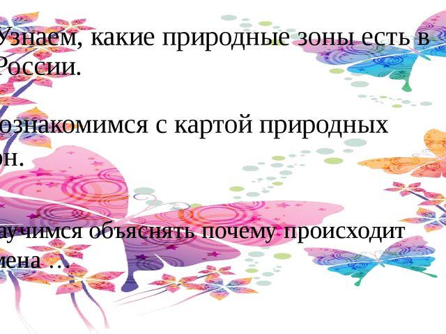 Узнаем, какие природные зоны есть в России. Познакомимся с картой природных з...