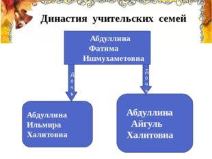 Династия учительских семей Абдуллина Фатима Ишмухаметовна Абдуллина Ильмир