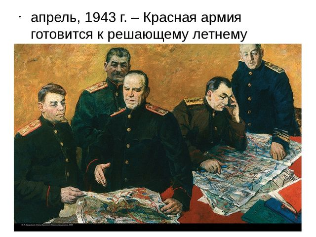 апрель, 1943 г. – Красная армия готовится к решающему летнему сражению