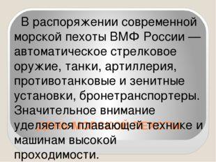 ДЕНЬ МОРСКОЙ ПЕХОТЫ В распоряжении современной морской пехоты ВМФ России — ав