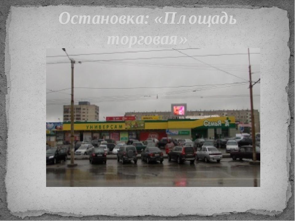 Остановка: «Площадь торговая»