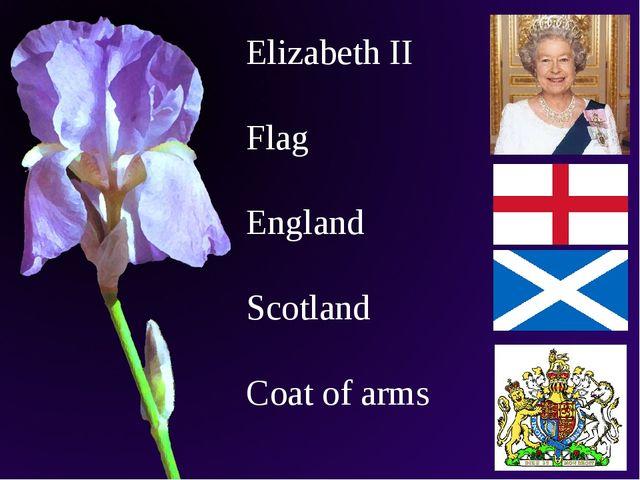 Elizabeth II Flag England Scotland Coat of arms