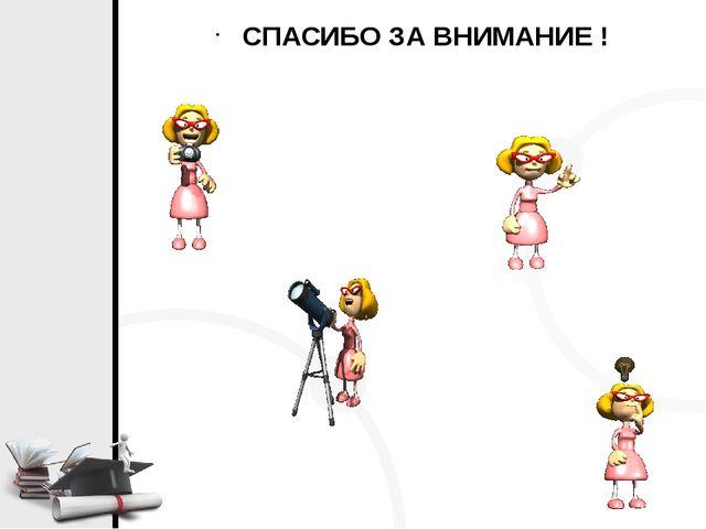 Free PPT Templates - Standard (4:3) СПАСИБО ЗА ВНИМАНИЕ ! Click to add title