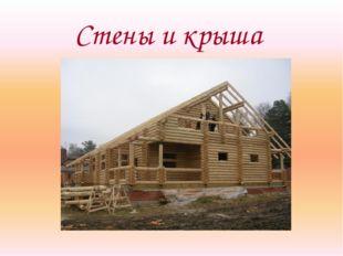 Стены и крыша