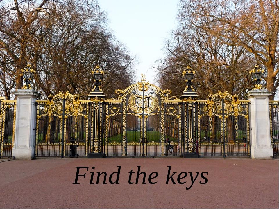 Find the keys