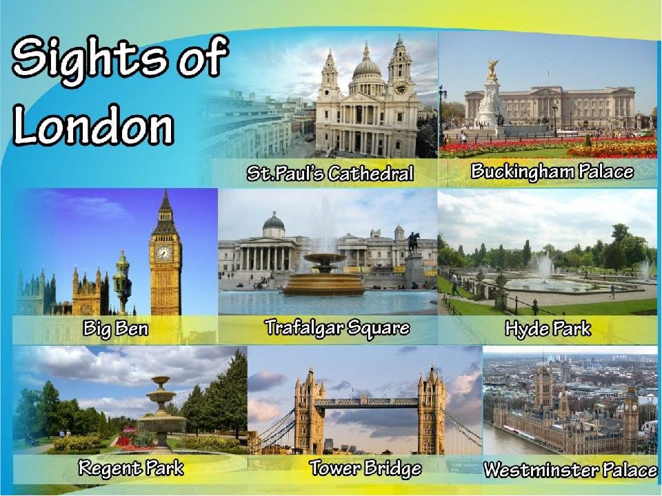презентация на тему достопримечательности лондона на английском яз названию исполнителю