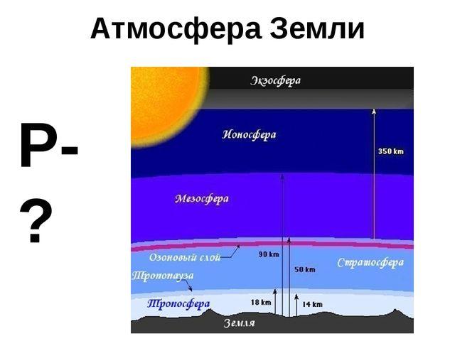 Атмосфера Земли Р-?