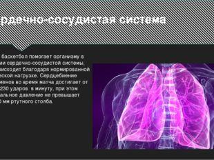 Сердечно-сосудистая система Так же баскетбол помогает организму в развитии се