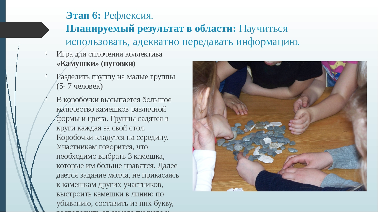 Этап 6: Рефлексия. Планируемый результат в области: Научиться использовать, а...