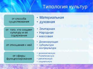 Типология культур