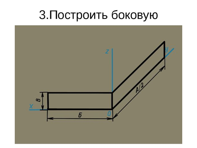 3.Построить боковую плоскость
