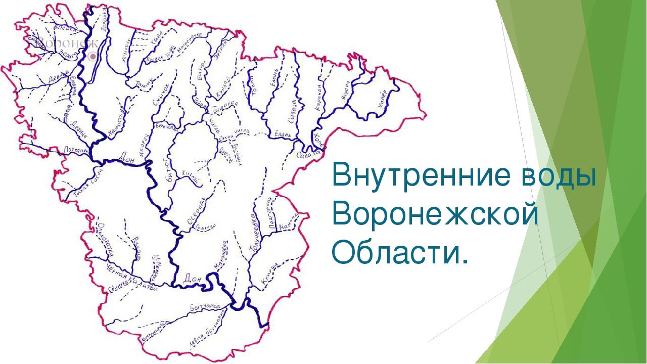 Внутренние воды Воронежской Области.