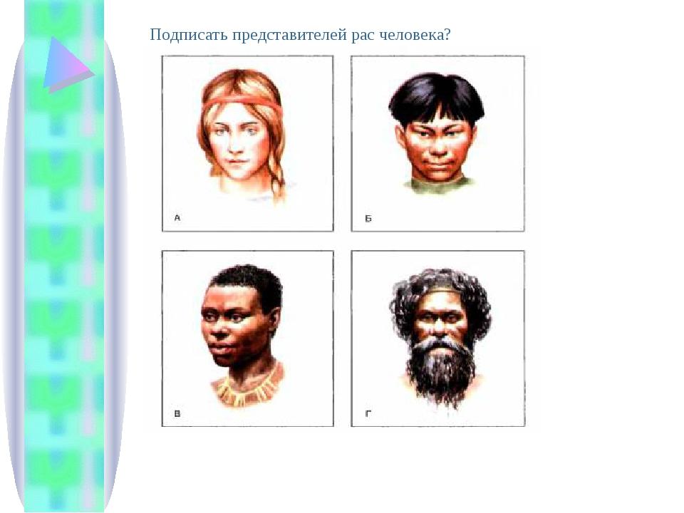 Подписать представителей рас человека?