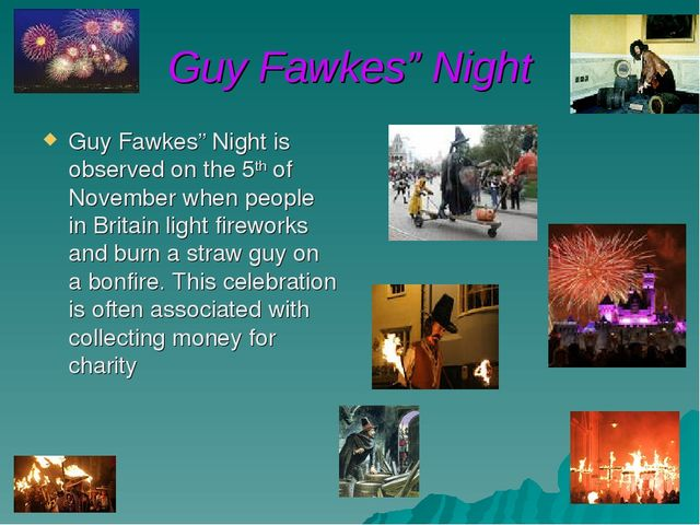 """Guy Fawkes"""" Night Guy Fawkes"""" Night is observed on the 5th of November when p..."""