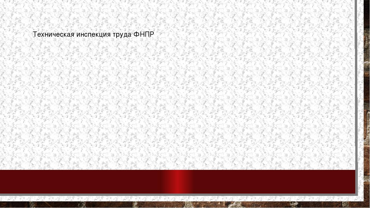 Техническая инспекция труда ФНПР