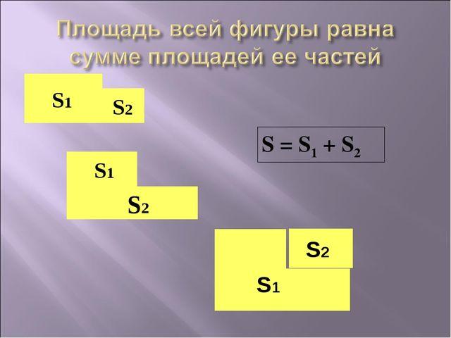 S1 S2 S1 S2 S = S1 + S2 S1 S2