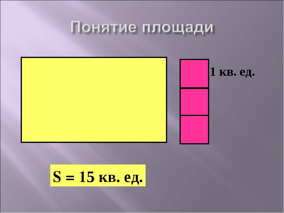 S = 15 кв. ед. 1 кв. ед.