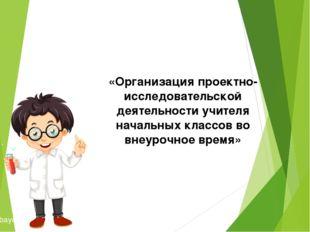 «Организация проектно-исследовательской деятельности учителя начальных класс