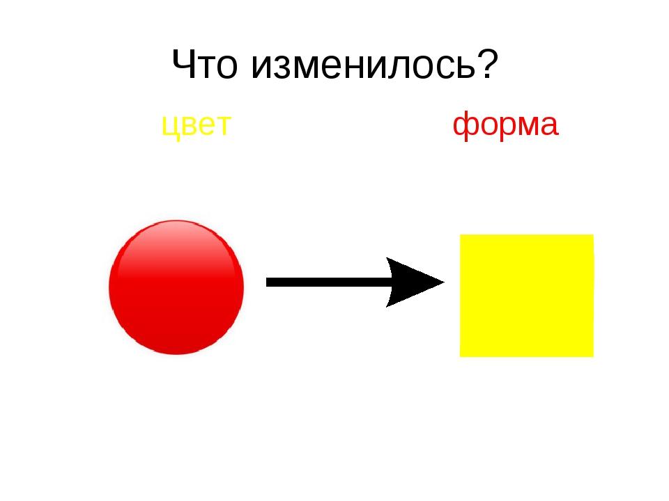 Что изменилось? цвет форма