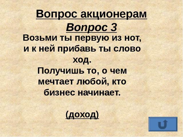 Вопрос акционерам Вопрос 6 Как вы помните, Карабас-Барабас был хозяином театр...