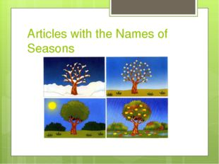 Articles with the Names of Seasons