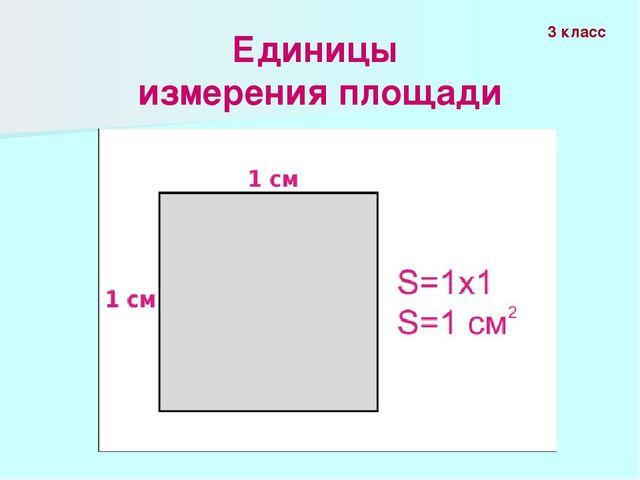 Единицы измерения площади 3 класс