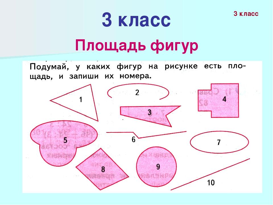3 класс Площадь фигур 3 класс