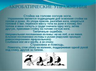 АКРОБАТИЧЕСКИЕ УПРАЖНЕНИЯ Стойка на голове согнув ноги. Упражнение является п