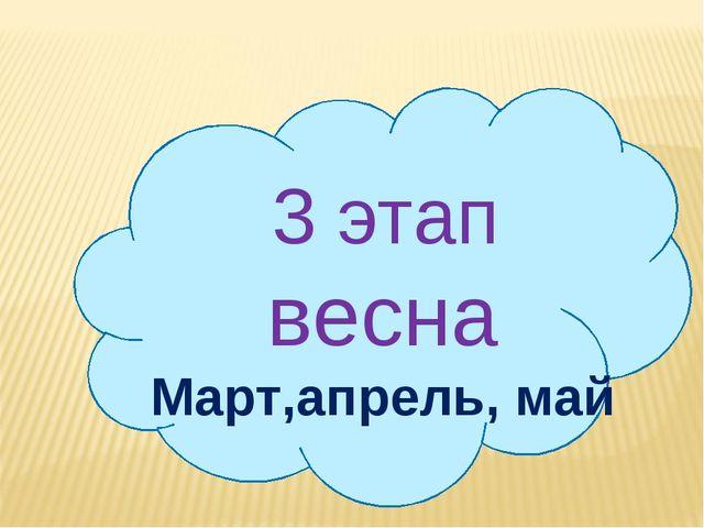3 этап весна Март,апрель, май