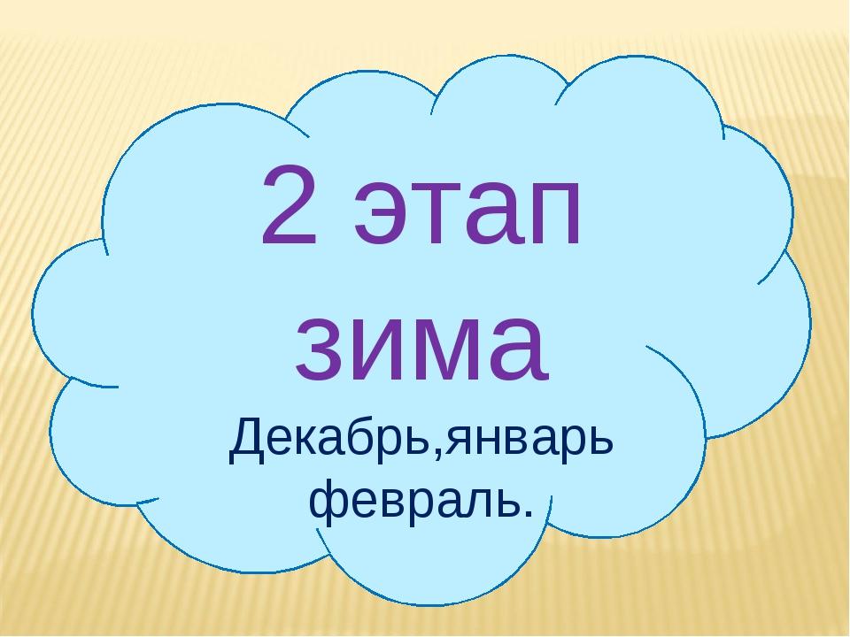 2 этап зима Декабрь,январь февраль.
