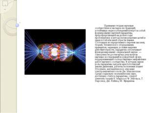 Признание теории научным сообществом и закладка ею традиций, устойчивых нор
