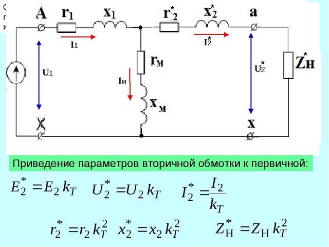 Схема замещения Схемой замещения - называется графическое изображение эл. цеп...