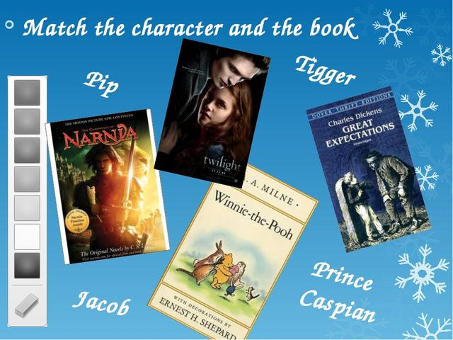 Match the character and the book Prince Caspian Tigger Pip Jacob