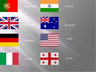 Португалия Ұлыбритания Германия Италия Үндістан Аустралия АҚШ Грузия