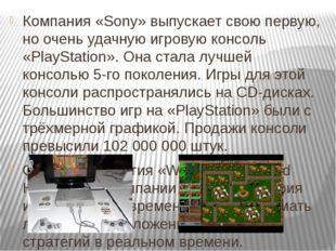 Компания «Sony» выпускает свою первую, но очень удачную игровую консоль «Play