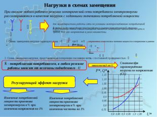 Нагрузки в схемах замещения При анализе любого рабочего режима электрической
