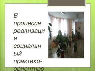 В процессе реализации социальный практико-ориентированный проект «Озеленение