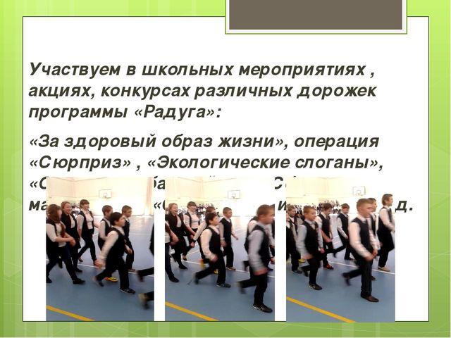 Участвуем в школьных мероприятиях , акциях, конкурсах различных дорожек прогр...