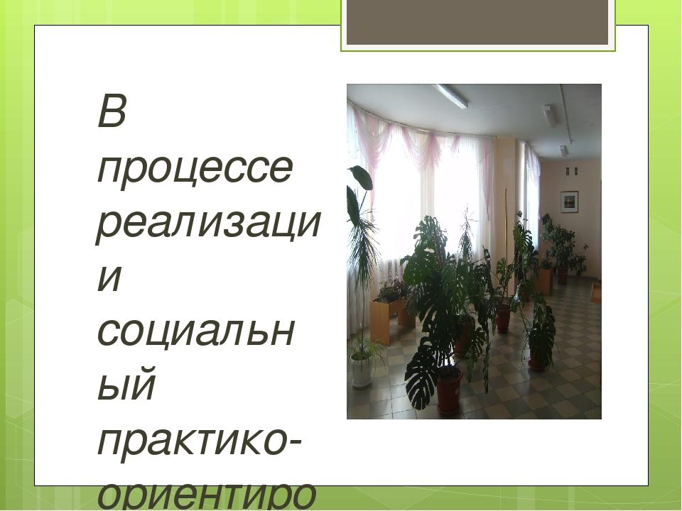 В процессе реализации социальный практико-ориентированный проект «Озеленение...