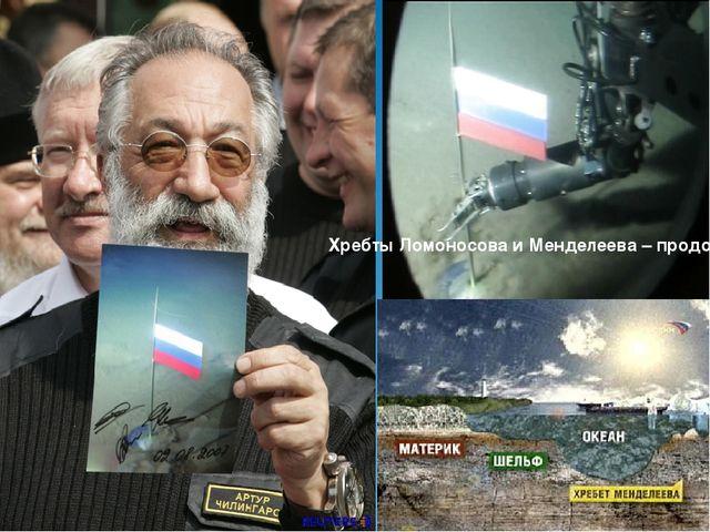 Хребты Ломоносова и Менделеева – продолжение российского шельфа