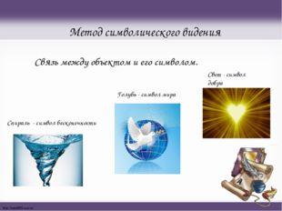 Метод символического видения Связь между объектом и его символом. Спираль - с
