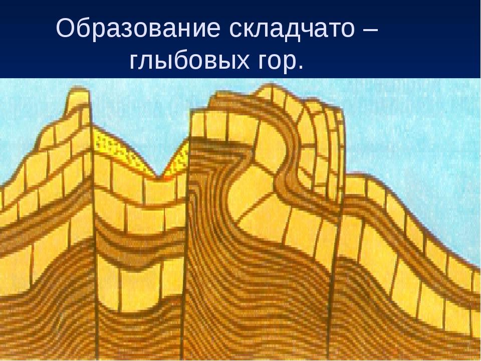 Образование складчато – глыбовых гор.
