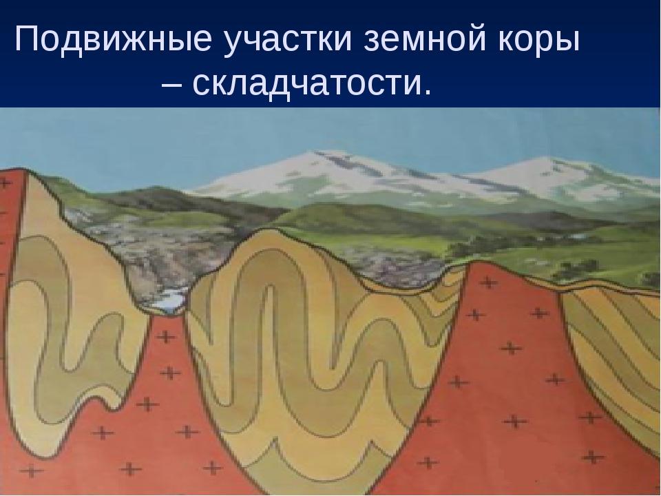 Подвижные участки земной коры – складчатости.